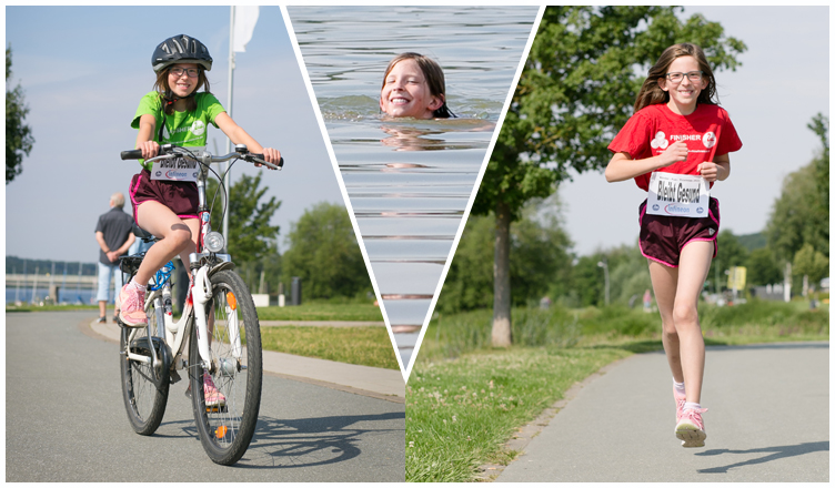 Kinder-Fun-Triathlon in ungewöhnlicher Form