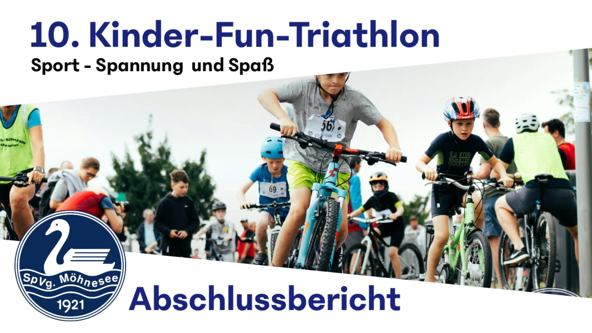 Über 150 Nachwuchssportler starteten beim Kinder-Fun-Triathlon